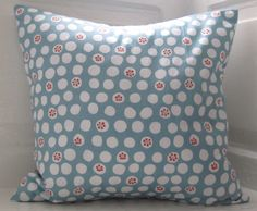 Cute Spotty Cushion Blue and White Polka Dot by LilyLovesShopping