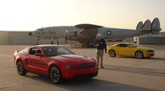 Road trip in a Ford Mustang