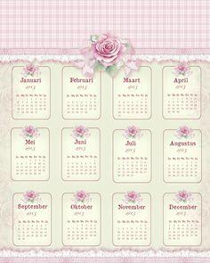 JanetK.Design Free digital vintage stuff: Kalenders