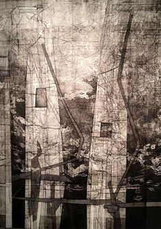 """Romson Regarde Bustillo, 'All the ways I tried to love you', 2012, collograph, 30 x 19"""". Image courtesy of the artist."""