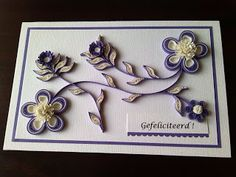Creations Quilling-Baukje Quilling Craft, Quilling Designs, Paper Quilling, Quilling Ideas, Paper Artist, Flower Cards, Beautiful Flowers, Card Making, Paper Crafts