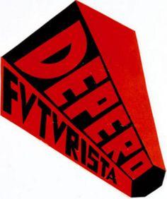 Fortunato Depero (1892-1960, Italy), Logo, Depero, Futurista.