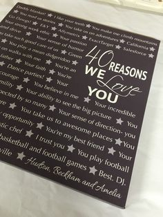 Reasons we love you, 16th, 21st, 30th, 40th, 50th, 60th, 70th, 90th, Personalized Birthday Gift, unique birthday gift for friends,