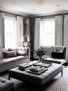 Why you need a tufted ottoman — The Decorista
