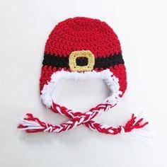 Baby Santa Christmas Earflap Hat
