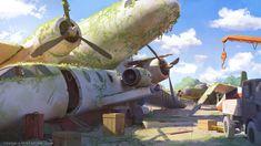 Aerodrome , Sylvain Sarrailh on ArtStation at https://www.artstation.com/artwork/aerodrome