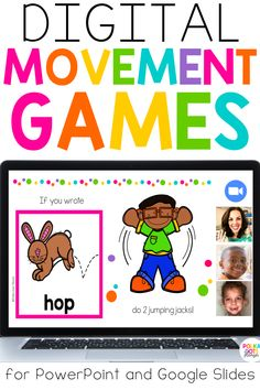Boost student engagement and movement with Guess and Groove Phonics Games! Perfect zoom meetings or online lessons because they require no prep and kids only need a pencil to play! Loved by kindergarteners and first graders! Language Games For Kids, Phonics Games For Kids, Phonics Games Online, Fun Phonics Activities, Online Games For Kids, Learning Games For Kids, Kindergarten Activities, Google Classroom, Classroom Ideas