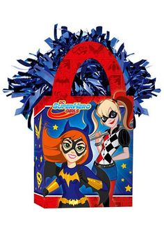DC Super Hero Girls Balloon Weight from Birthday in a Box is the perfect complement to your DC Super Hero Girls themed party! Superhero Party Supplies, Comic Party, Girl Superhero Party, Balloon Weights, Birthday Box, Party Stores, Balloons, Tote Bag, Mini
