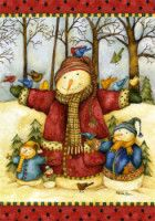 SNOW FAMILY- Mini Flag ** Quickly view this special product, click the image : Garden Christmas Decorations Cute Snowman, Christmas Snowman, Christmas Photos, Christmas And New Year, Christmas Time, Christmas Crafts, Christmas Decorations, Snowmen, Illustration Noel