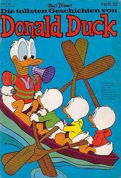 Walt Disney - Heft - Ducks - Boat - Water Pato Donald Y Daisy, New Ducktales, Donald Duck Comic, All Disney Characters, King Koopa, Looney Tunes Bugs Bunny, Disney Duck, Duck Boat, Jesus Painting