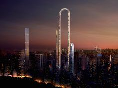 """THEBIGBEND by Oiio Studio/ Ioannis Oikonomou a U-shaped tower that aims to become """"the world's longest building"""" (if you were measure from end to end of the U, which would total approximately 4,000 feet)."""