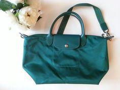 Longchamp Paris Deposee Limited Edition Le Pliage Emerald Green Nylon Bag   Clothing, Shoes  Accessories, Womens Handbags  Bags, Handbags  Purses   eBay!