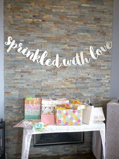 sprinkled with love - baby shower idea...