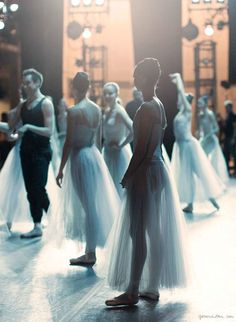 New York City Ballet, warm up, backstage, dancers  - Photo by Garance Doré