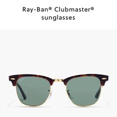 Ray Ban club master sunglasses Purchased online without trying on, so cute but I can't get them to look cute on me! Ray-Ban Accessories Sunglasses
