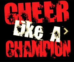 One of my fave cheer quotes & also used as a bag tag for the girls!