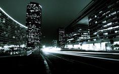 Night City Traffic desktop wallpaper