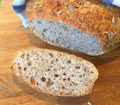 Juicy no knead rye bread - Vegan ground Sourdough Rye Bread, No Knead Bread, Rye Bread Recipes, Keto Chocolate Chip Cookies, Spelt Flour, Dry Yeast, How To Make Bread, Granola, Fudge