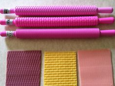 Diamond brick and stripes rolling pins. by CakesbyAngela on Etsy