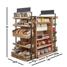 Artisan Crate Shop Interiors Linkshelving interiors Farmshop & Deli, Grocery interiors, Visitor attractions Gift shops, Bakery fruit & Veg, Grocers & … - new site Bakery Shop Design, Retail Store Design, Coffee Shop Design, Cafe Design, Bakery Shop Interior, Design Shop, Rustic Coffee Shop, Interior Design, Interior Architecture