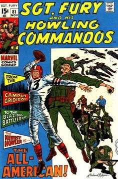 Sgt Fury and his Howling Commandos Vol 1 81 War Comics, Marvel Comics, Comic Book Covers, Comic Books, Western Comics, Silver Age Comics, Nick Fury, Classic Comics, Vintage Comics