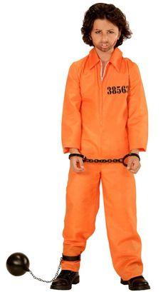 Gefängnis Sträfling Kinderkostüm