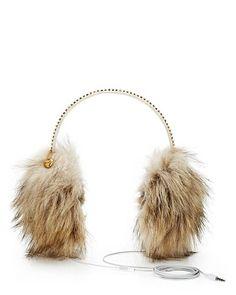 Juicy Couture | Faux Fur Ear Muff Headphones - StyleSays