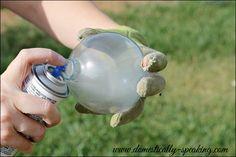 Faux Mercury Glass Bulbs @ Domestically Speaking