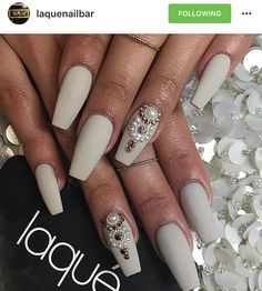 Matte Taupe Coffin Nails