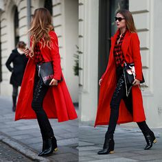 Maffashion red look, totally in love