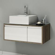 Gabinete para Banheiro Itatiaia Pérola IGBD1G1 80   (Não Acompanha Cuba) Carvalho Marsala/Branco Laca