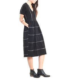 Higher waist, no rebellious stripe mismatching, but definitely the general idea. Adapt washi, with n-neck as before, gathers not pleats (if material isn't bulky), add little sleeves.