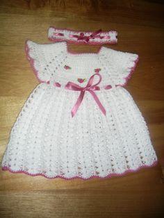 vestidos de bebe a crochet patrones - Buscar con Google