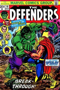 The Defenders Nov 1973 Marvel Comic Book Incredible Hulk Vs Mighty Thor Marvel Comics Superheroes, Marvel Comic Books, Comic Book Characters, Comic Book Heroes, Marvel Characters, Comic Books Art, Comic Art, Book Art, Marvel Heroes