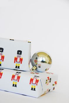 DIY Free Printable Nutcracker Gift Wrap