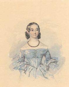 Портрет Катерини Абази. Акварель. 1837, Тарас Шевченко, Україна