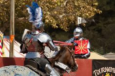 Luc Petillot(left) jousts Toby Capwell(right) who is wearing the gold escarbuncle shield (photo by J. Camacho Photography) The Jousting Life