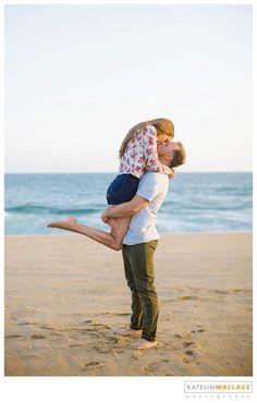 Katelin Wallace Photography Newport Beach Engagement Shoot Beach Blanket