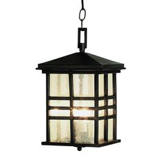 Trans Globe 4638 2-Light Rustic Craftsman Outdoor Pendant  Rustic Craftsman exterior pendantA rustic mission style outdoor hanging lantern, perfect for