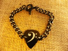 Guitar+pic+Clef+two+tone+bracelet+by+Sweetheartsofthe4est+on+Etsy,+$4.00