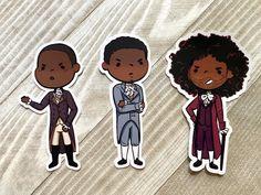 Alexander Hamilton, Notebook Stickers, Laptop Stickers, King George, Hamilton Stickers, Chibi, Hercules Mulligan, Hamilton Quotes, John Laurens