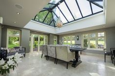 Beautiful #modern Residence 9 Orangery! Love these stylish additions to the home. #R9journey #Windows #Doors #Orangery #Residence9 #HomeImprovement