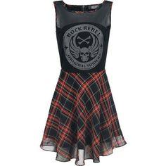 Checked Skater Dress ($39) ❤ liked on Polyvore featuring dresses, vestidos, black, chiffon dress, checker print dress, pattern dress, mixed print dress and chiffon skater dress