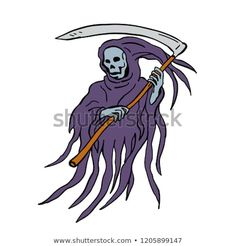Drawing sketch style illustration of the evil grim reaper or death with scythe and torn hood on isolated white background. Reaper Drawing, Drawing Sketches, Drawings, Grim Reaper, Disney Characters, Fictional Characters, Royalty Free Stock Photos, Death, Illustration