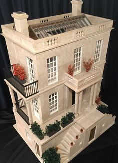 Birch Hill by Mark Turpin 2017 — email: info@markturpin.com #architecturalminiature #miniaturehouse #miniatures