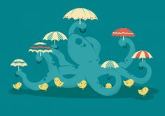 Poster | KEEPIN' THE CHICKS DRY von Jay Fleck | more posters at http://moreposter.de