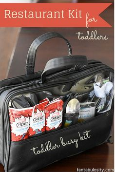 Restaurant Kit - Toddler Busy Bag Ideas! http://fantabulosity.com