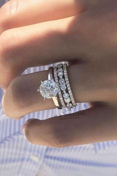 Diamond Wedding Band Marriage Rings - 30 The Most Beautiful Gold Engagement Rings gold engagement rings solitaire diamond wedding set See more: www. Engagement Ring Rose Gold, Vintage Engagement Rings, Stacked Engagement Ring, Stacked Wedding Rings, Wedding Rings Solitaire, Custom Wedding Rings, Wedding Ring Gold, Bridal Rings, Big Wedding Rings