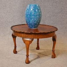 Antique Coffee Table Low Sofa Magazine Occasional Walnut Edwardian English C1910 #Antiqueforsale