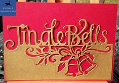 Gold Christmas, Christmas Bells, Christmas Cards, Pink Envelopes, Paint Cards, Gold Paper, Winter Trees, Etsy Uk, Card Maker